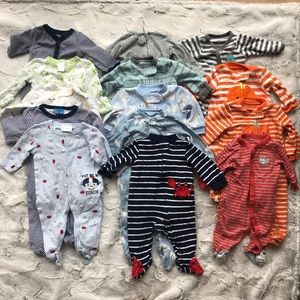 Infant Sleeper Set Bundle - 3m- 15pcs